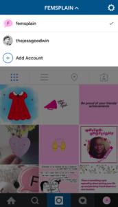 zmiana konta instagram
